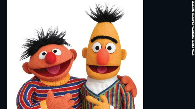 Sesame Street's Muppet characters were originally intended to be support for the human cast -- but test audiences responded so warmly to <strong>Bert and Ernie</strong>'s sketches that the producers put Muppets in starring roles. The comic duo have been two of the show's most popular characters ever since.