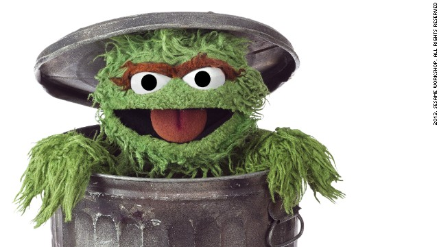 "A bad tempered green monster, who loves ""anything dirty or dingy or dusty"" and lives in a trash can: perhaps not an obvious choice for a children's TV hero. Yet <strong>Oscar the Grouch</strong>, whose ambition is to be as miserable as possible, has failed to ruin viewers moods, bringing humor and fun to the Street."