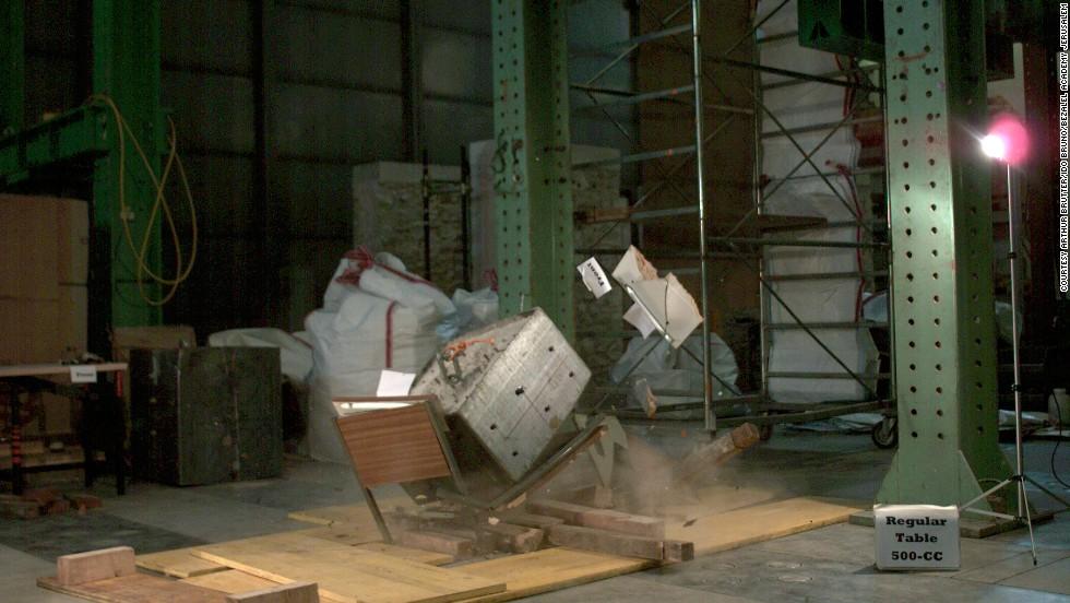 Una súper mesa contra sismos
