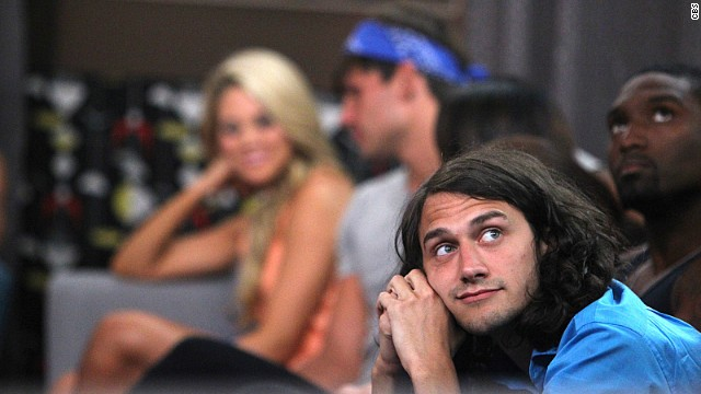 Houseguest McCrae looks on during the July 3 live eviction show on CBS'