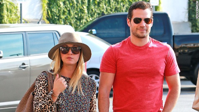 Henry Cavill, Kaley Cuoco hold hands in L.A.