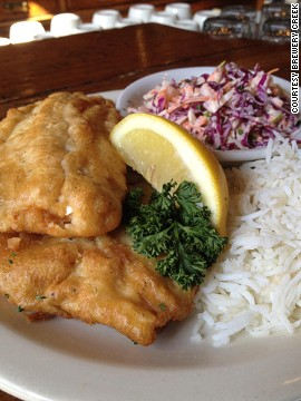 Nothing goes with beer better than beer-battered trout.