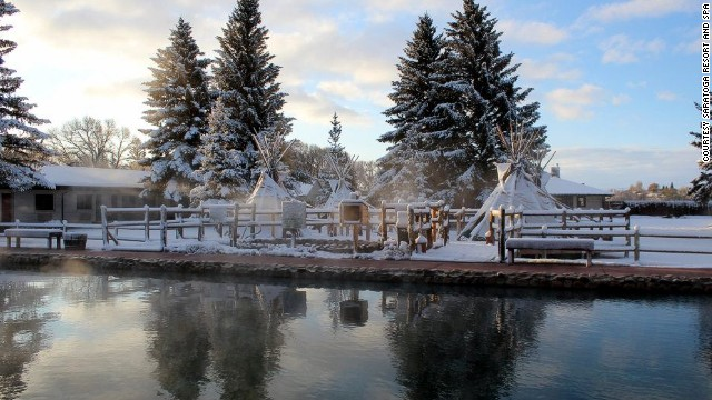 Inside Saratoga Resort and Spa is Snowy Mountain Brewery. Activities include hunting, fishing, golfing, cross-country skiing and ATV adventuring. You can also soak in Saratoga's natural hot springs, which are corralled into a public 70-foot pool and four smaller teepee-covered pools