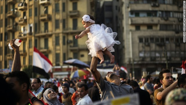 Crowds throng Tahrir Square on July 4.