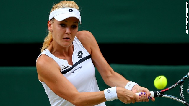 Radwanska had chances to press home her advantage but slipped to a three set defeat in the semifinal.