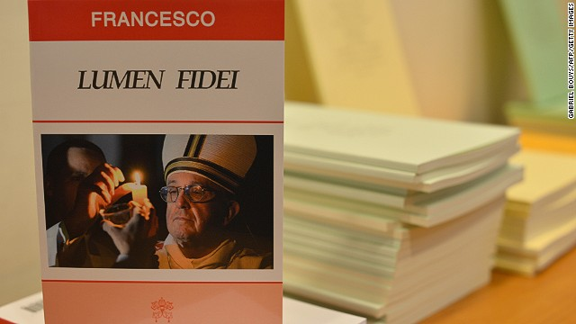 An edition of Pope Francis' first encyclical, titled