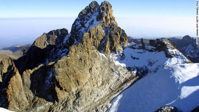 Lying just south of the equator, Mount Kenya is Africa's second highest mountain after Kilimanjaro. The majestic mountain has been designated a UNESCO World Heritage site since 1997. <i>Peak: 5,199 meters</i>
