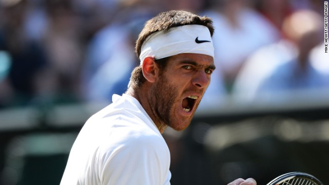 Argentina's Del Potro summoned up incredible reserves of energy during his semifinal against Djokovic.