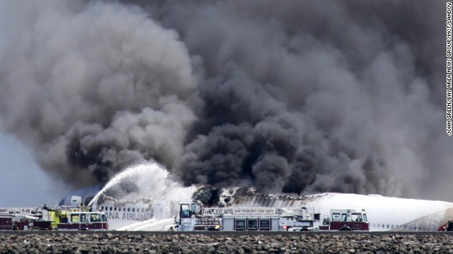 2 die after airliner crash lands, burns at San Francisco airport