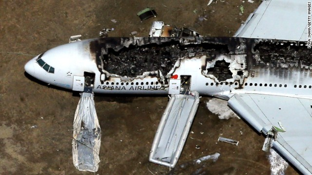 Asiana Airlines Flight 214 crashed at San Francisco International Airport on July 6, 2013. The South Korean airline's Boeing 777 fell short of its approach and crash-landed on the runway. Three people were killed and more than 180 were injured.
