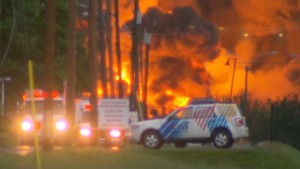 130707072356 canada train derailment 00000913 story body Engine shutdown may have started Canadian train disaster, railway says