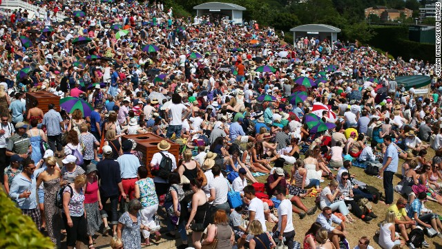 Fans flocked to Murray Mound with Britain hoping it