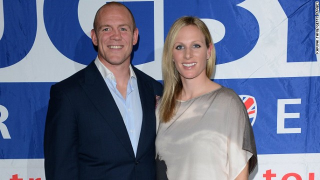Zara Tindall (pictured with husband Mike) is a granddaughter of Queen Elizabeth II.