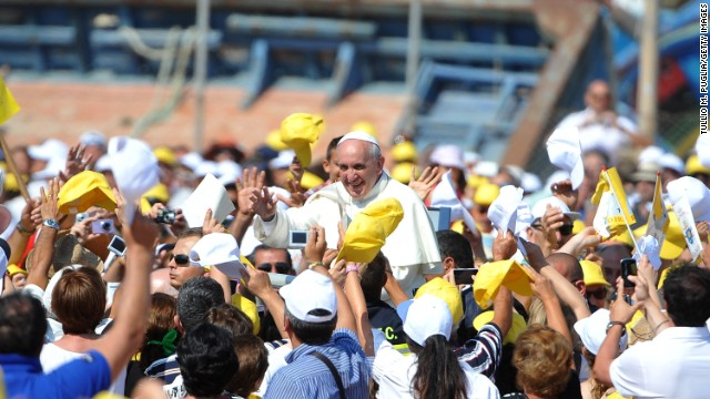 Pope Francis made his decision to visit Lampedusa after hearing about the deaths of refugees whose boat capsized off the coast of Sicily in late June.