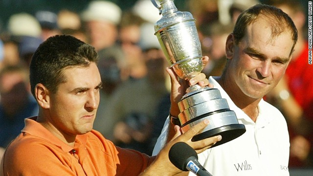 Thomas Bjorn watched little known American Ben Curtis lift the trophy at the British Open in 2003.