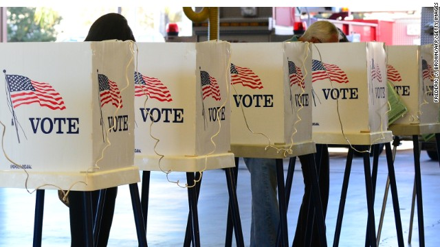 California voters cast ballots in the last president edlection, November 6, 2012.