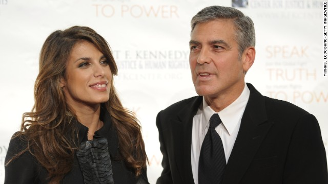 Elisabetta Canalis: Clooney dated Italian actress and TV personality Elisabetta Canalis from 2009 to 2011 (we're sensing a pattern here). Their relationship was closely watched, and some thought Clooney had popped the question in 2010 when Canalis was photographed with a bauble on her finger. But it was actually a napkin ring she'd placed there as a joke.