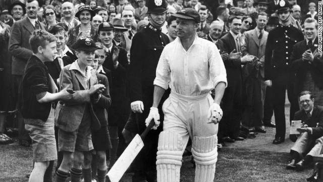 Australia's Don Bradman, acknowledged as the finest batsman to have ever played the game, made his debut against England in 1928. He went on to score 5,028 runs in Ashes series during an illustrious career.