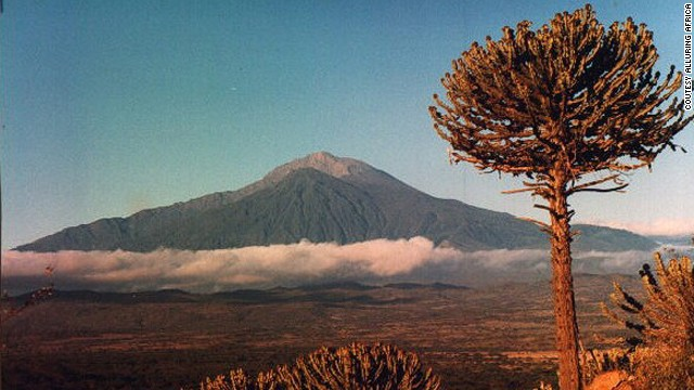 Mount Meru is a beautiful extinct volcano that's often used by mountaineers for acclimatization before trekking Kilimanjaro. <i>Peak: 4,565 meters.</i>