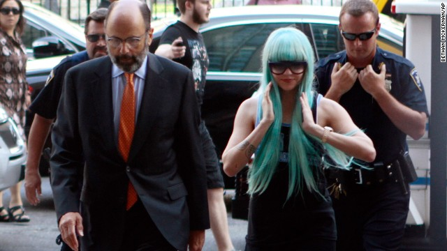 Bynes and attorney Gerald Shargel arrive for a court appearance in New York on July 9, 2013. She was charged with reckless endangerment and attempting to tamper with physical evidence. <a href='http://miami.cbslocal.com/2014/06/30/amanda-bynes-new-york-bong-tossing-case-dismissed/' target='_blank'>The case was later dismissed. </a>