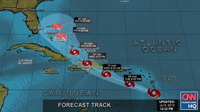 La tormenta Chantal se debilita; amenaza con lluvia a Haití y Dominicana