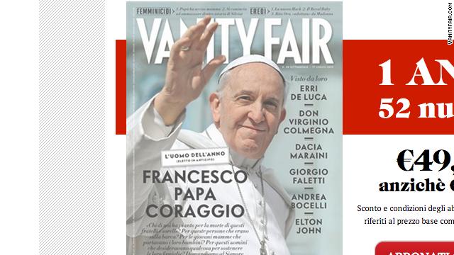 """La revista Vanity Fair elige al Papa Francisco como """"Hombre del Año"""""""