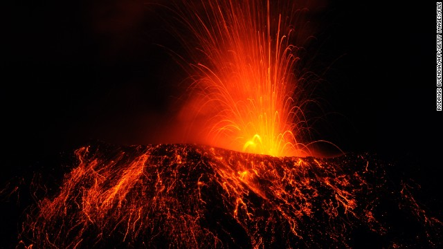 Tungurahua, in the Ecuadorian Andes, puts on a fiery show in 2011.