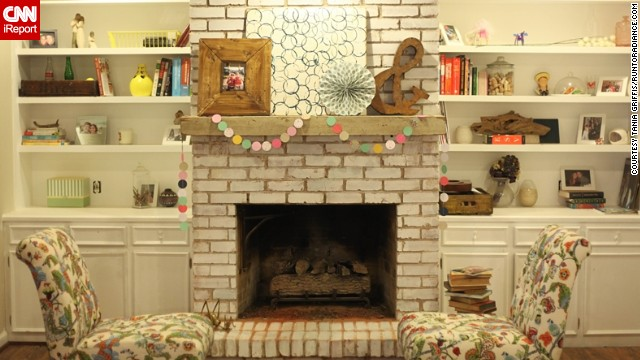 <a href='http://ireport.cnn.com/docs/DOC-1000672'>Tania Griffis</a> of Dallas used plenty of elbow grease and faced DIY failure while renovating her living room. Now, her mantel is just how she likes it.