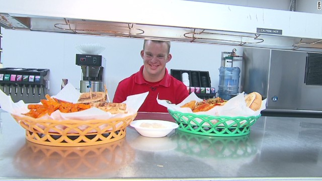 Tim Harris, who has Down syndrome, always dreamed of owning his own business. His restaurant serves breakfast, lunch and hugs. <a href='http://www.cnn.com/2013/07/10/health/human-factor-harris/index.html'>Read more</a>.