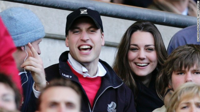 The pair cheered on the English rugby team during the RBS Six Nations Championship match between England and Italy at Twickenham on February 10, 2007, in London.