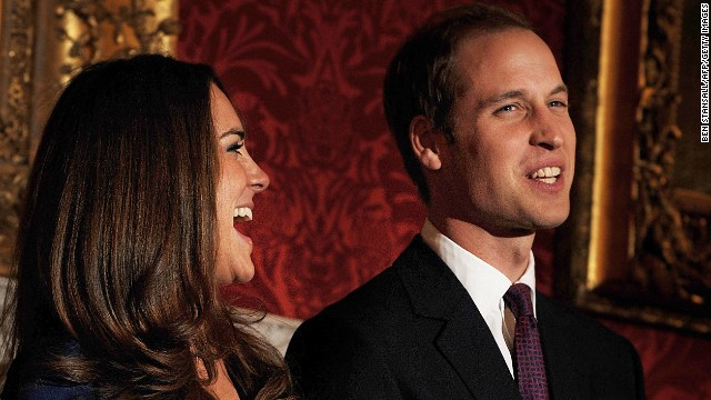 Kate Middleton received the engagement ring that belonged to Prince William's late mother, Diana, Princess of Wales. The couple posed for photographers to mark their engagement in the State Rooms of St. James' Palace, central London, on November 16, 2010.