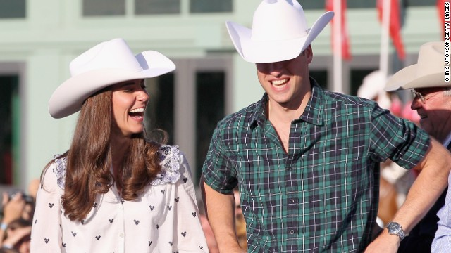 The newly married royal couple enjoyed their first joint overseas tour on July 7, 2011. Here the pair watch a rodeo demonstration at a government reception in Calgary, Alberta.