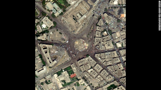 Photos: Egypt protests from above