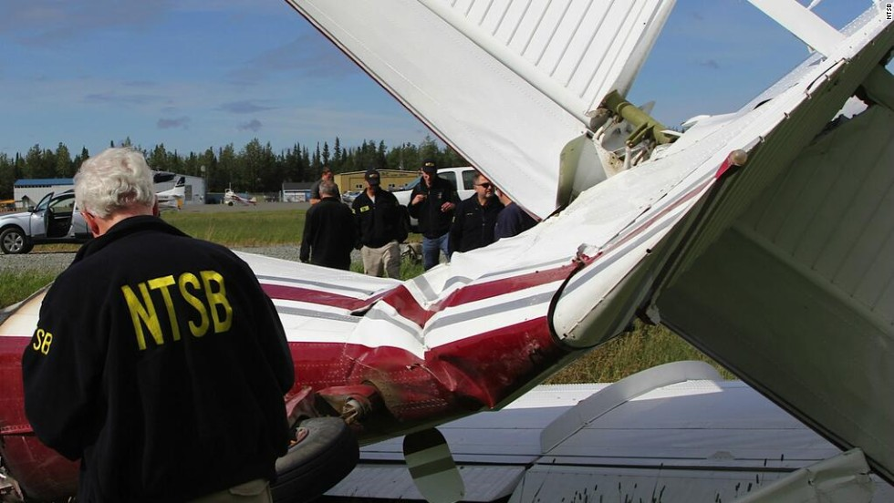 The National Transportation Safety Board has sent a team to Soldotna, Alaska, to investigate the crash of a small single-engine plane on Sunday, July 7. All 10 people on board were killed.