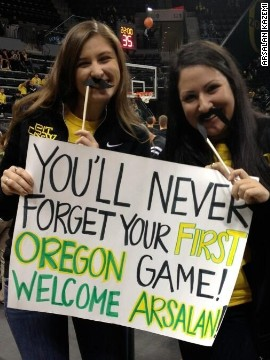 Kazemi received a warm welcome upon his arrival in Oregon.