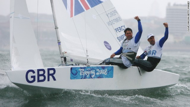 In 2008, Simpson and Percy were part of Great Britain's all-conquering sailing team. Great Britain is the most successful nation in Olympic sailing history, with more gold medals won than any other nation.