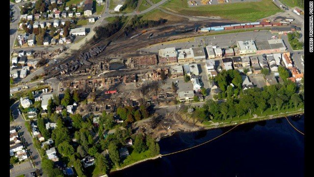 The train explosion wiped out dozens of buildings in downtown Lac-Megantic.