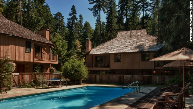 Located in Mt. Rainier National Park, Alta Crystal's 23 renovated suites have a fireplace and a small but fully equipped kitchen.