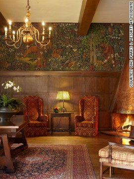 A recent renovation of The Ahwahnee at Yosemite National Park drew upon historical archives to determine appropriate textiles and colors, giving an English country-house look to the interiors.