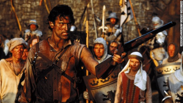 """ 'Army of Darkness' ... enough said ... cult classic!"" Thanks tarlcabot. The 1992 horror film with Bruce Campbell as a man transported back in time does now have its fans."