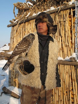 In Ying Tun, a tiny rural village in China's Jilin province, falcon training and hunting is still practiced by most of the local men.