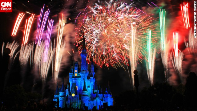 "This photo was taken on May 12, 2013 at Disney World's Magic Kingdom at the daily fireworks show called the Wishes Nighttime Spectacular. ""The fireworks were well synchronized with the music being played in the background and was arranged in a manner that all visitors will get a good view with the castle as the backdrop,"" says Kenneth Ngyuwai from Daytona Beach, Florida who captured the castle in all its glory."
