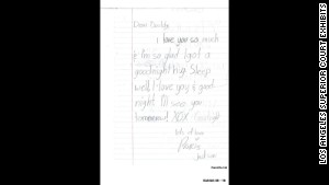 A note from 11-year-old Paris Jackson to her dad.