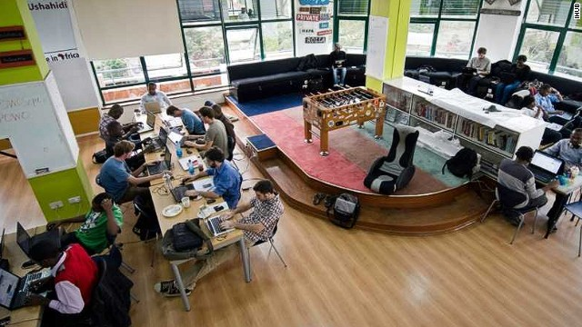 "As part of its ""Vision 2030"" development program, Kenya has singled out scientific and technological advancement as a key driver for growth. <!-- --> </br>Pictured, Nairobi's iHub is a co-working space that's become the epicenter of Kenya's burgeoning tech scene."