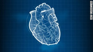 An artist\'s impression of a 3D-printed heart