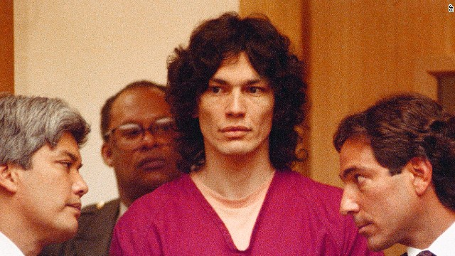 Richard Ramirez, also known as the Night Stalker, was convicted of 13 murders and sentenced to death in California in 1989. The self-proclaimed devil worshipper found his victims in quiet neighborhoods and entered their homes through unlocked windows and doors.