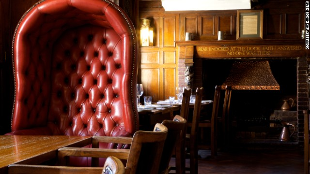 <strong>The Hind's Head in Bray, UK.</strong><!-- --> </br><strong>Chef</strong>: Heston Blumenthal, chef proprietor of triple-Michelin-starred The Fat Duck and one-starred Dinner by Heston Blumenthal.<!-- --> </br><strong>Cuisine</strong>: The original gastro-pub serving up retooled British classics, like a gently oozy Scotch egg and foamy pea and ham soup, with mains including Cornish cod in a mussel broth and a bubble-and-squeak cake with quail egg and leek sauce.