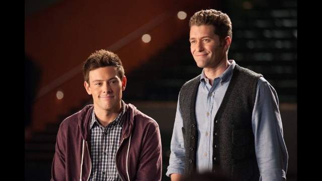 "Monteith and Matthew Morrison appear on ""Glee."""