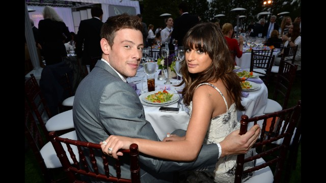 "Monteith and girlfriend/""Glee"" co-star Lea Michele attend the Chrysalis Butterfly Ball on June 8 in Los Angeles."