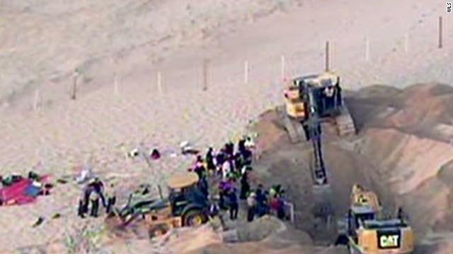 Un niño de 6 años sobrevive tras más de tres horas hundido en una duna
